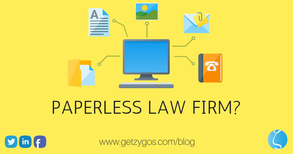 PAPERLESS LAW FIRM blog post cover